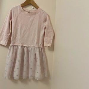 Carter's girls Long sleeve pink dress. Size: 8.
